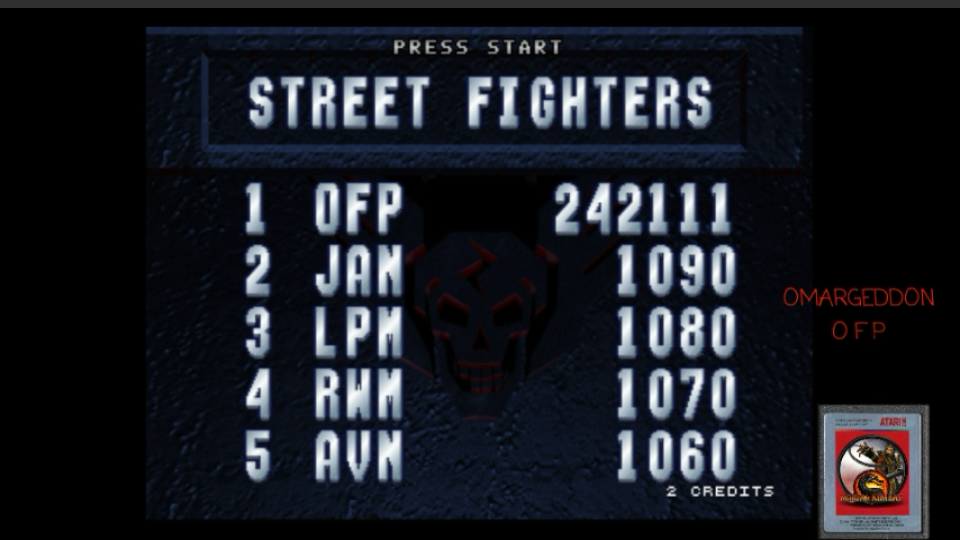 omargeddon: Street Fighter: The Movie [sftm] (Arcade Emulated / M.A.M.E.) 242,111 points on 2017-04-27 21:01:09