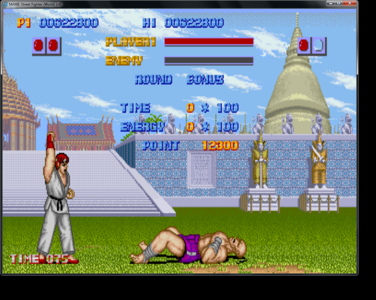 bubufubu: Street Fighter [sf] (Arcade Emulated / M.A.M.E.) 622,800 points on 2015-07-13 12:19:54