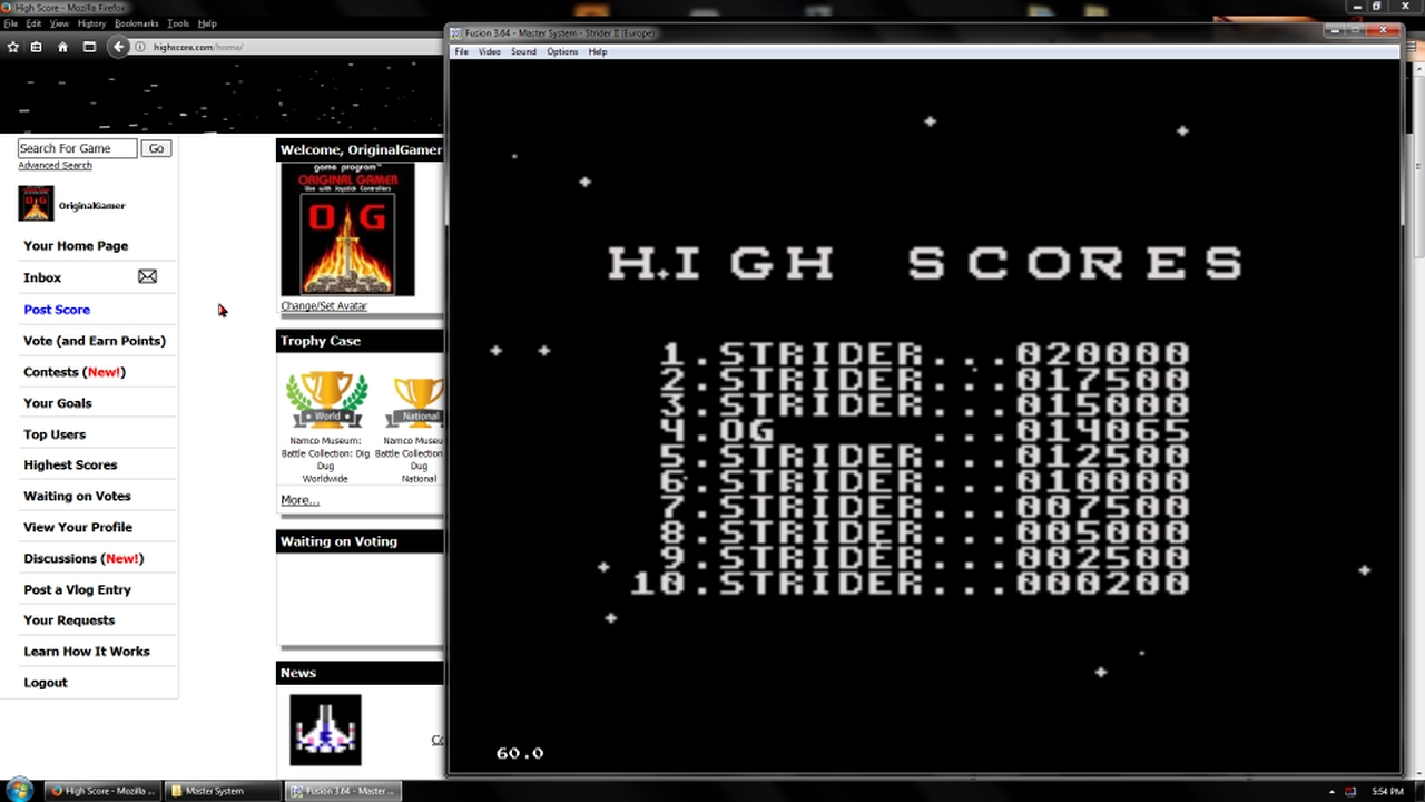 OriginalGamer: Strider II [Easy] (Sega Master System Emulated) 14,065 points on 2018-02-19 18:35:04
