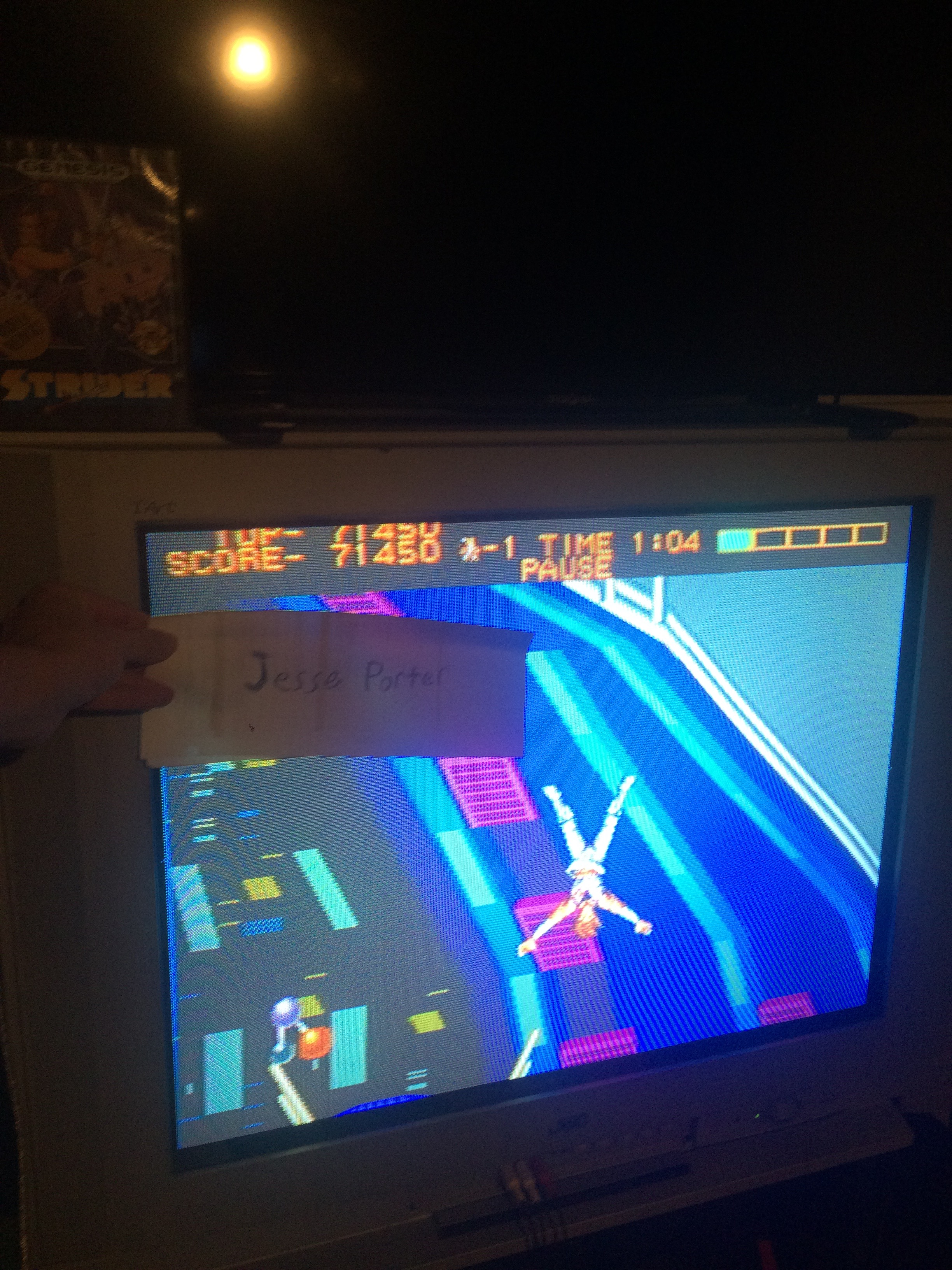 JessePorter: Strider (Sega Genesis / MegaDrive) 71,450 points on 2016-09-05 01:27:13