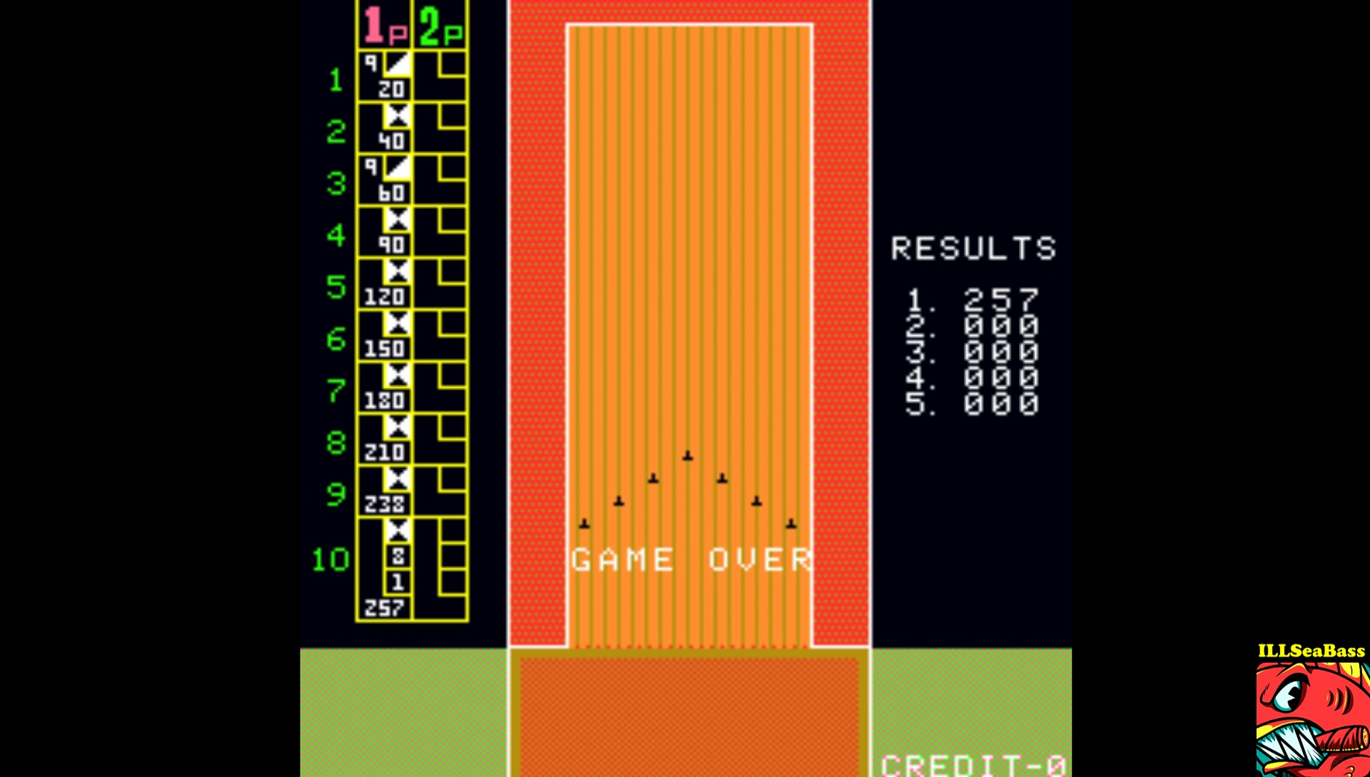 ILLSeaBass: Strike Bowling [sbowling] (Arcade Emulated / M.A.M.E.) 257 points on 2017-02-16 12:15:50