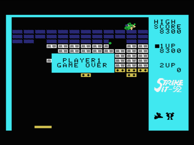 S.BAZ: Strike It! [Skill 1] (Colecovision Emulated) 8,300 points on 2019-07-31 20:20:50
