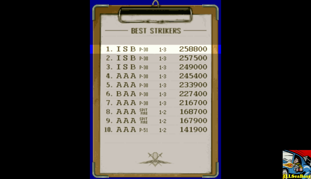 Strikers 1945 258,800 points