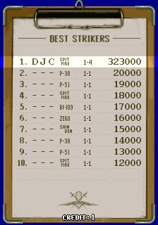 derek: Strikers 1945 (Arcade Emulated / M.A.M.E.) 323,000 points on 2017-05-23 12:37:31