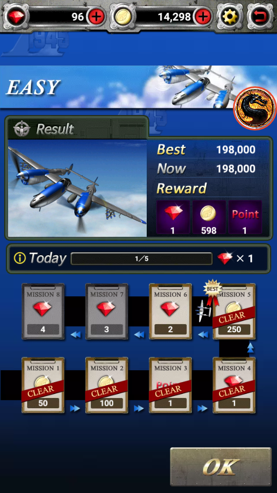 omargeddon: Strikers 1945 II (Android) 198,000 points on 2019-07-08 19:26:59