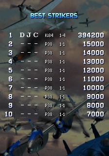 derek: Strikers 1945 II (Arcade Emulated / M.A.M.E.) 394,200 points on 2017-09-24 09:50:27