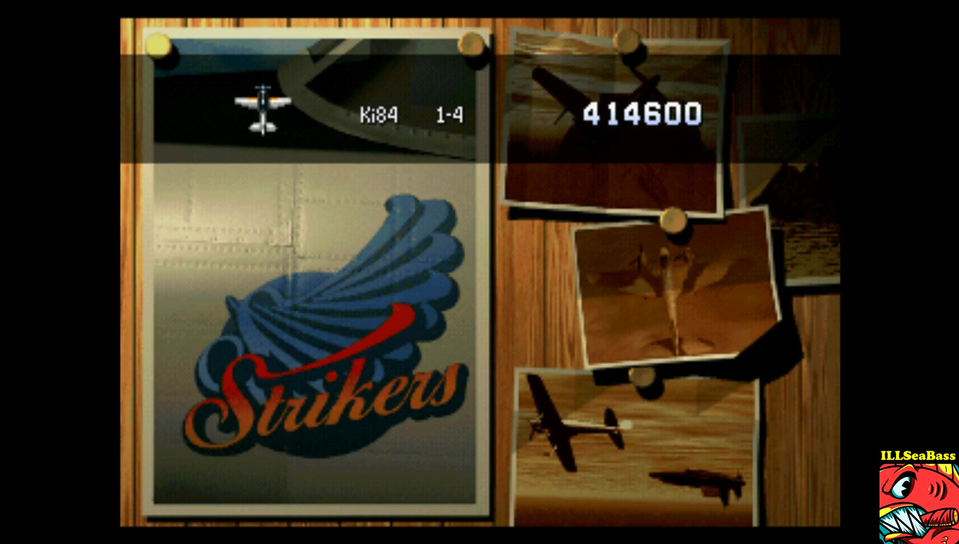 ILLSeaBass: Strikers 1945 (Playstation 1 Emulated) 414,600 points on 2017-02-15 09:13:05