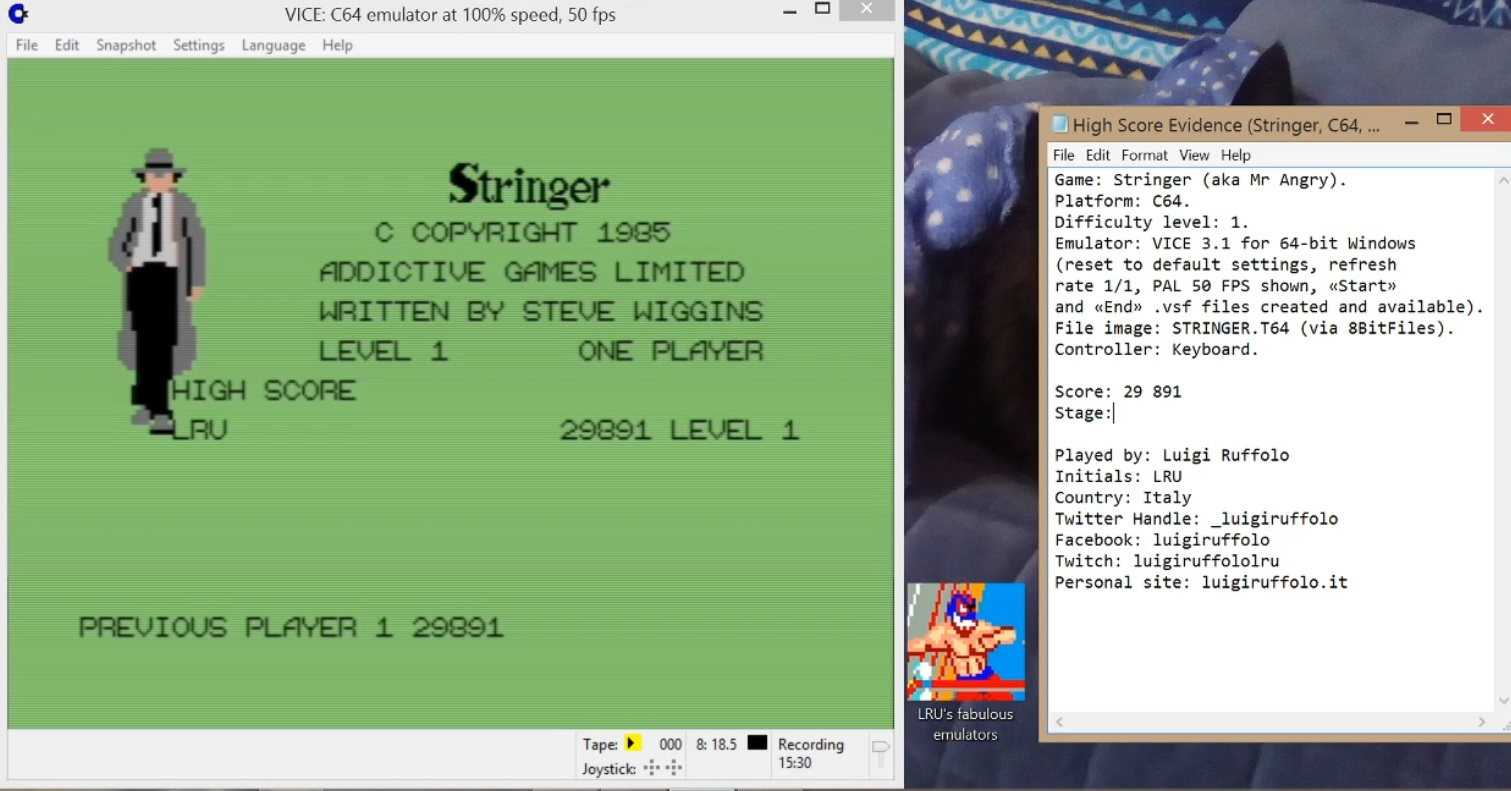 LuigiRuffolo: Stringer (Commodore 64 Emulated) 29,891 points on 2020-06-09 13:25:19