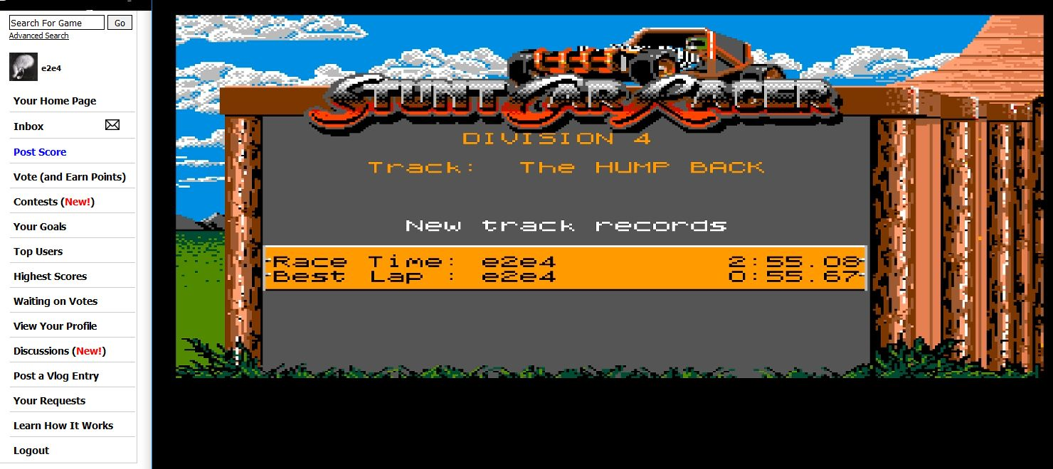 Stunt Car Racer [The Hump Back/Race-Time] time of 0:02:55.08