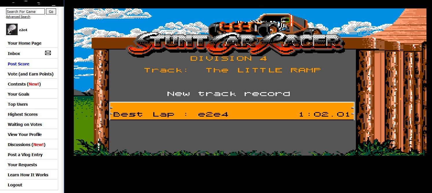 Stunt Car Racer [The Little Ramp/Lap-Time] time of 0:01:02.1