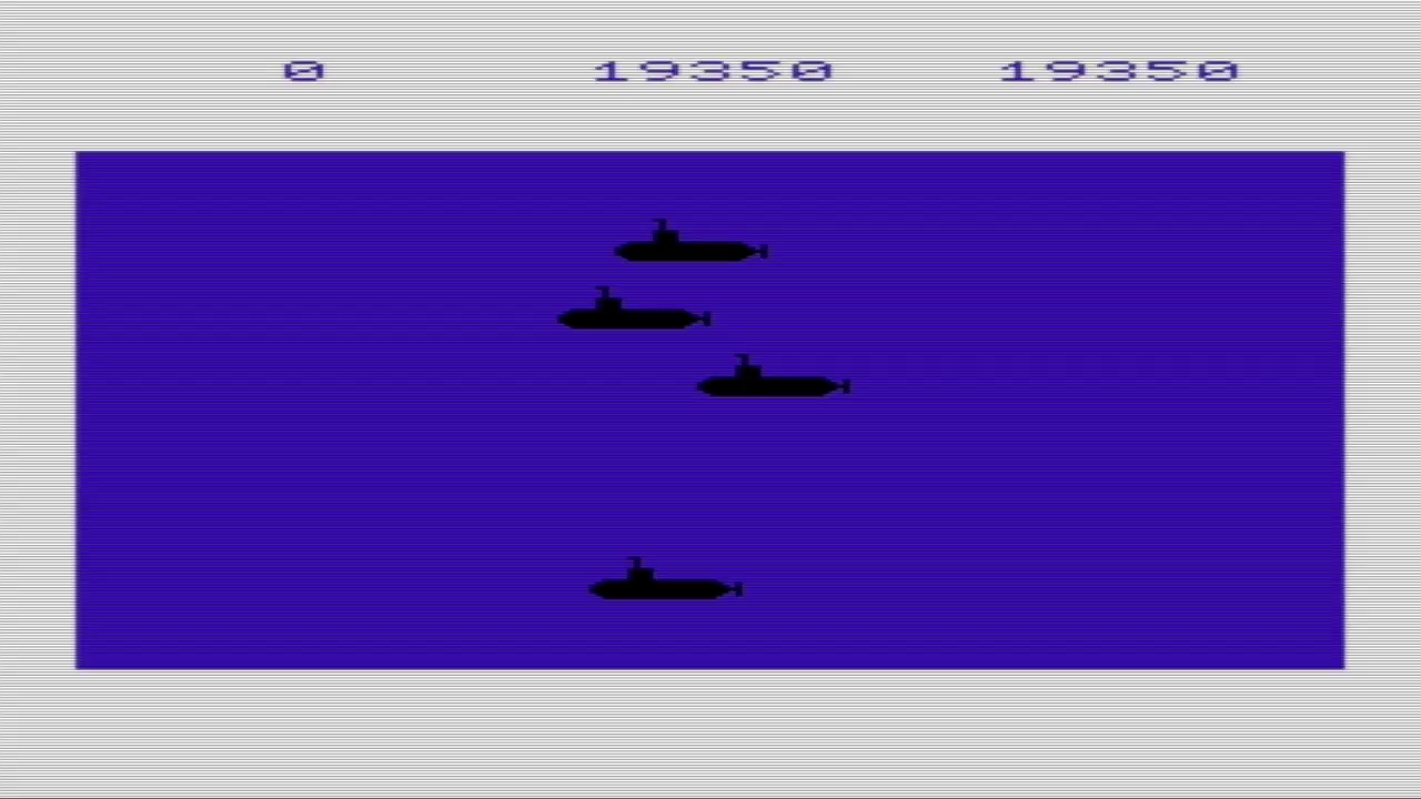 GTibel: Sub Chase (Commodore VIC-20 Emulated) 19,350 points on 2017-05-28 04:23:24