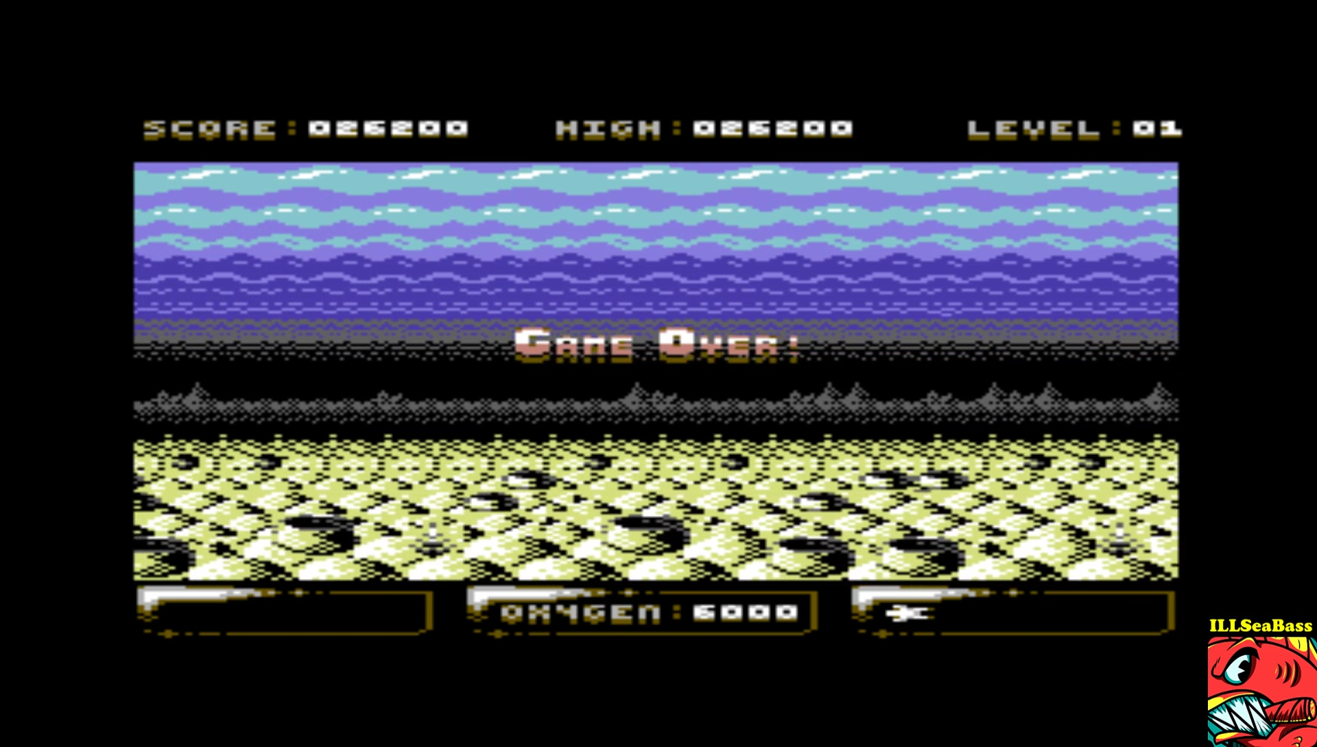 ILLSeaBass: Sub Hunter (Commodore 64 Emulated) 26,200 points on 2017-03-16 23:27:44