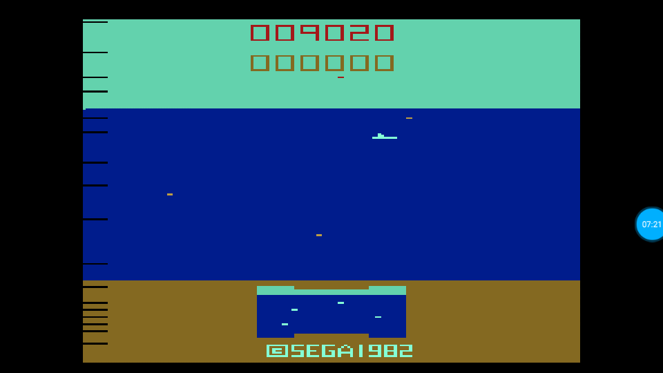 omargeddon: Sub Scan (Atari 2600 Emulated Novice/B Mode) 9,020 points on 2018-07-18 16:28:22