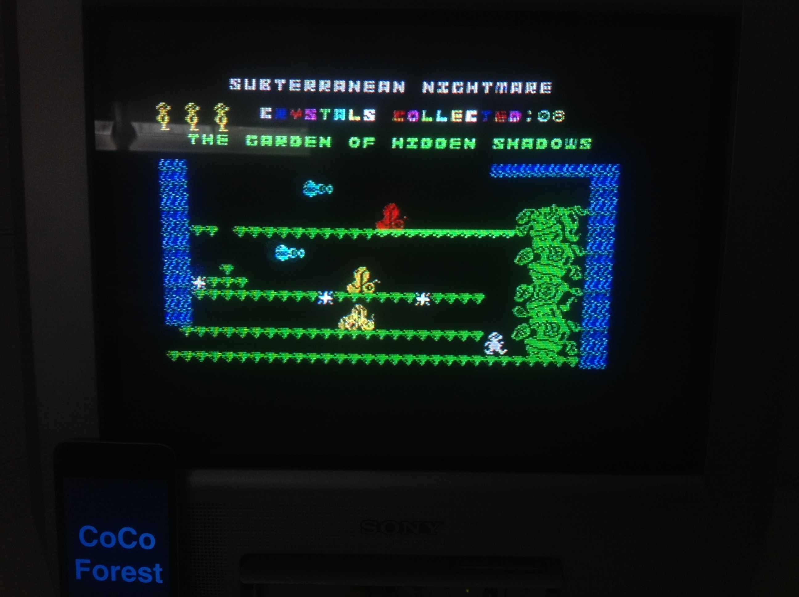 CoCoForest: Subterranean Nightmare [Crystals Collected] (ZX Spectrum) 8 points on 2016-01-09 07:19:37