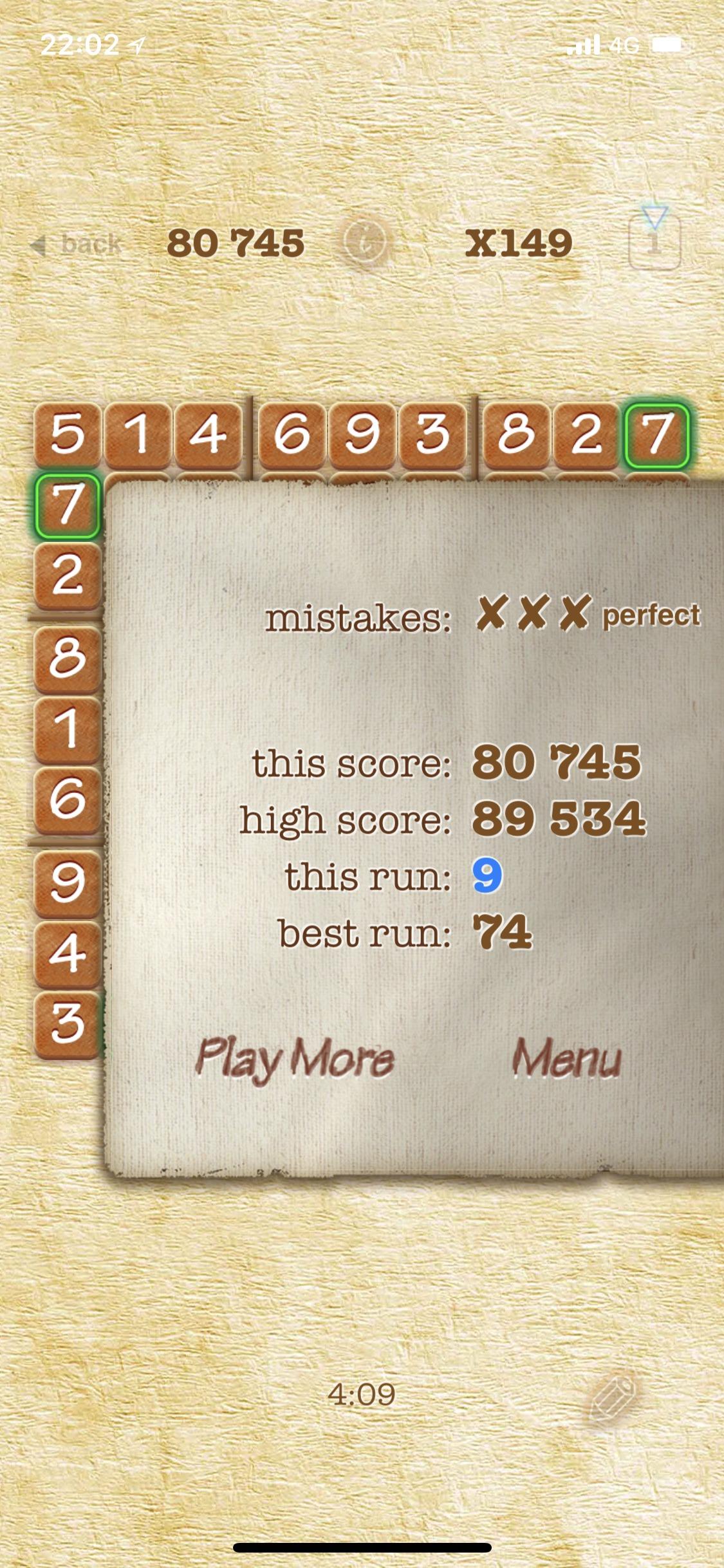 Maxwel: Sudoku 2 Pro [Expert] (iOS) 89,534 points on 2018-09-20 06:47:16