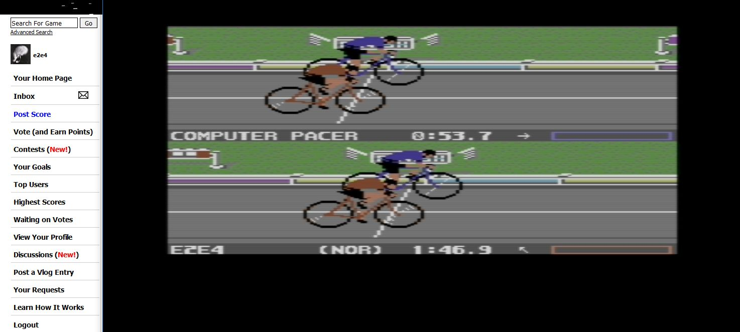 Summer Games 2: Cycling time of 0:01:46.9