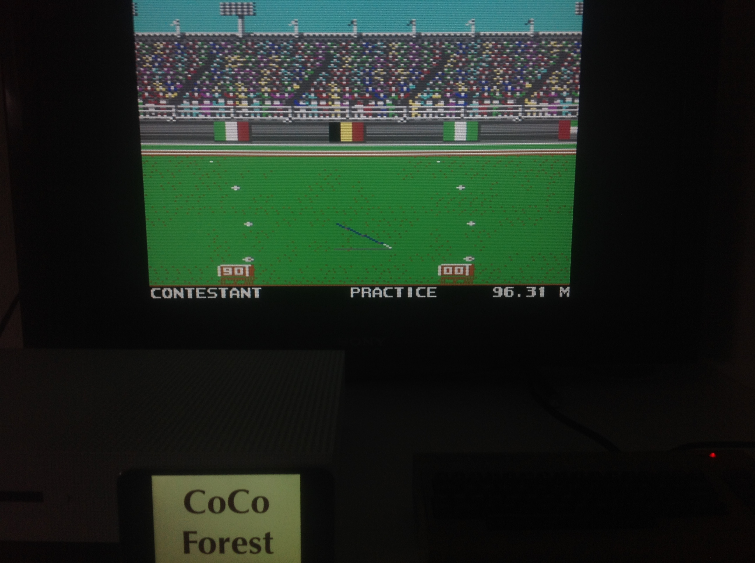 CoCoForest: Summer Games 2: Javelin Throw [Centimeters] (Commodore 64 Emulated) 9,631 points on 2018-04-10 11:55:28