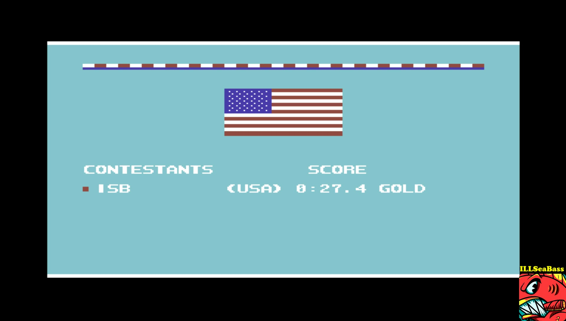 ILLSeaBass: Summer Games 2: Rowing (Commodore 64 Emulated) 0:00:27.4 points on 2017-03-22 09:09:51