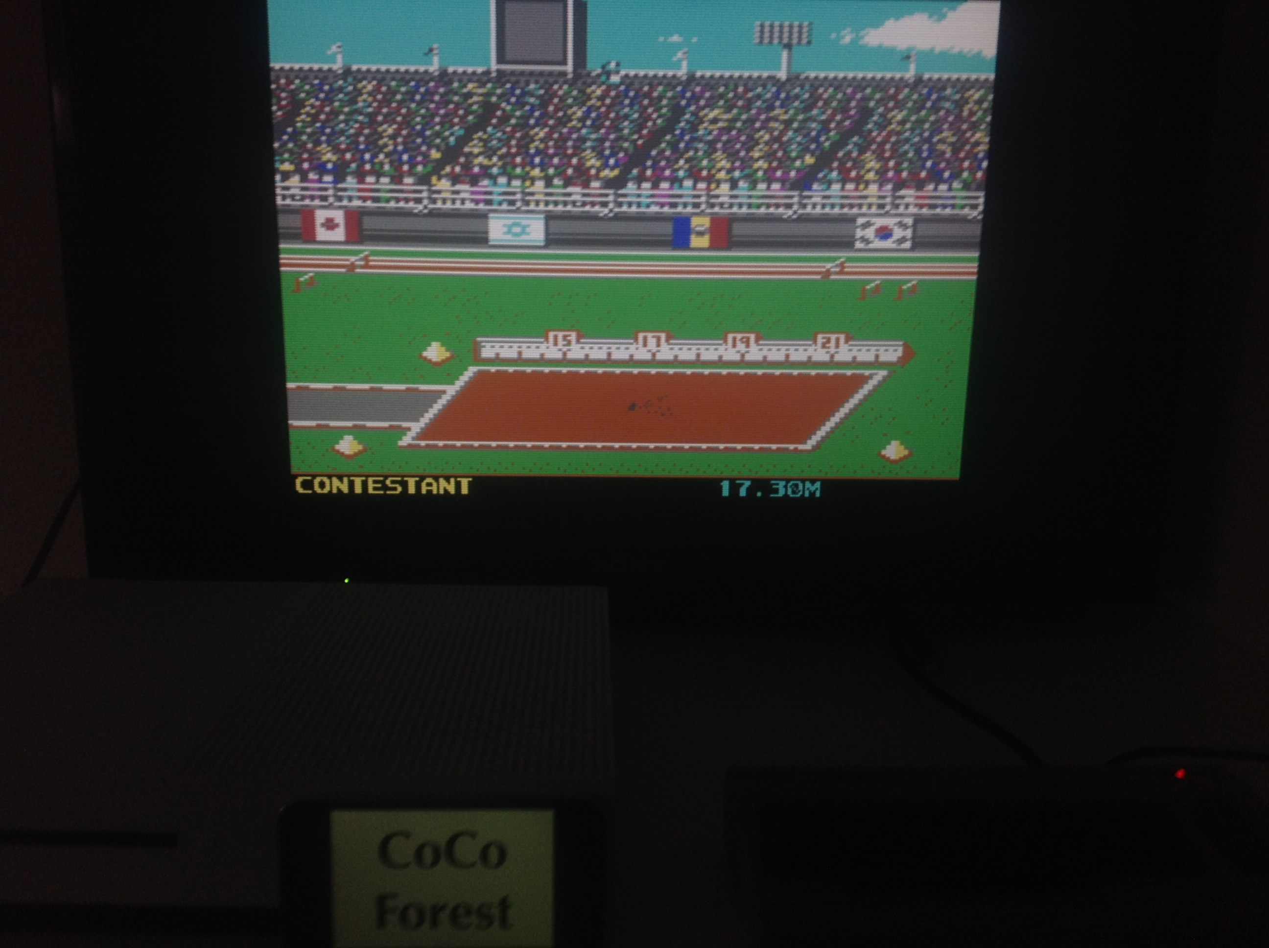 CoCoForest: Summer Games 2: Triple Jump [Centimeters] (Commodore 64 Emulated) 1,730 points on 2018-04-10 11:32:49