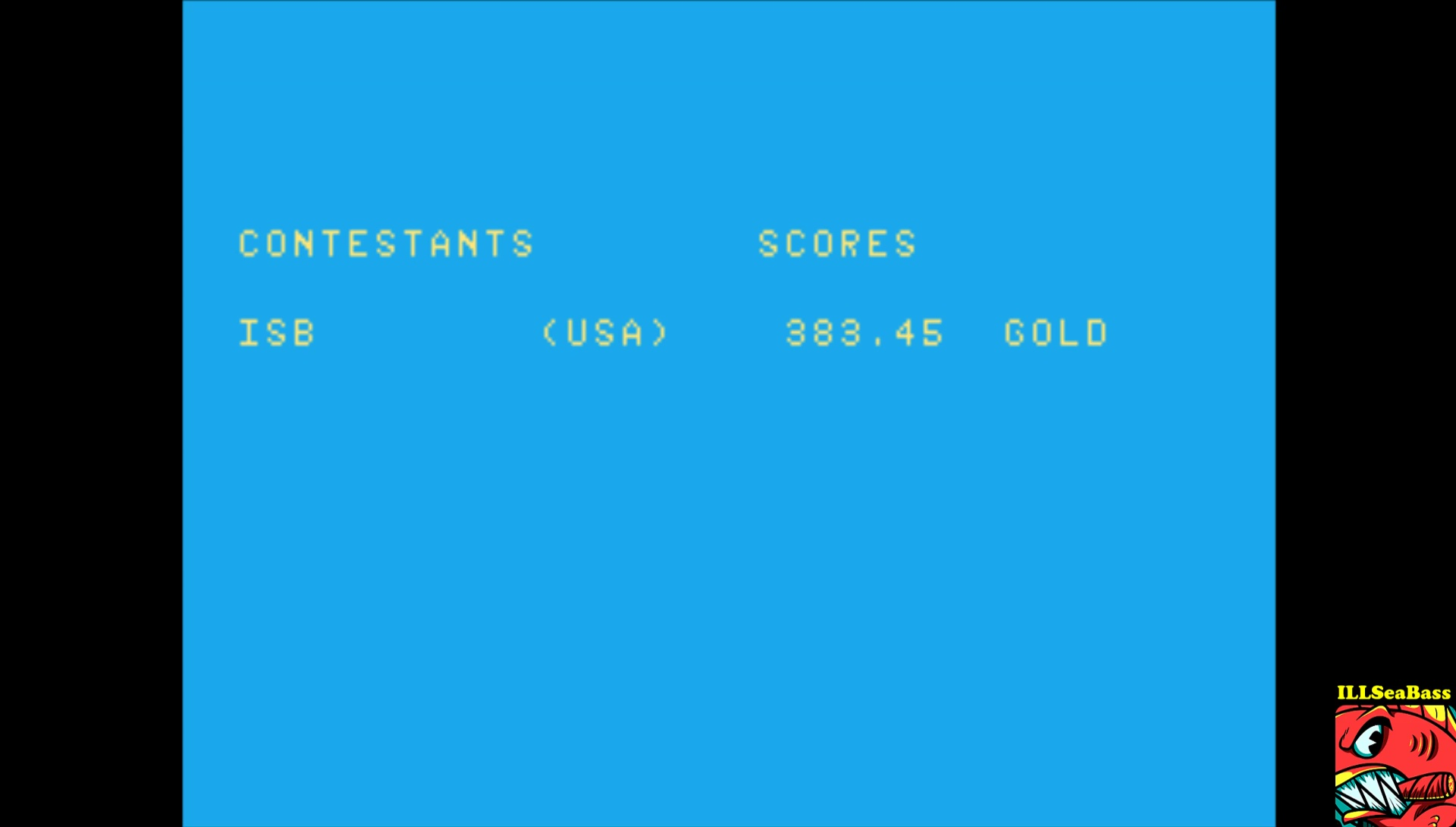 ILLSeaBass: Summer Games: Diving (Atari 7800 Emulated) 383 points on 2017-02-16 20:39:24