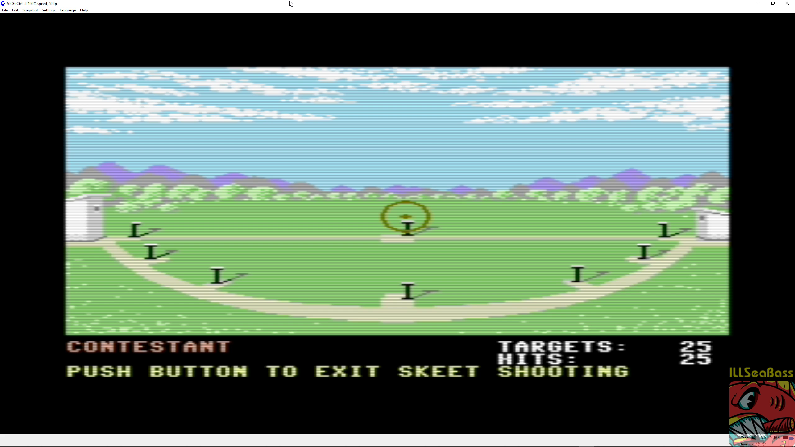 ILLSeaBass: Summer Games: Skeet Shooting (Commodore 64 Emulated) 25 points on 2018-09-10 21:14:44