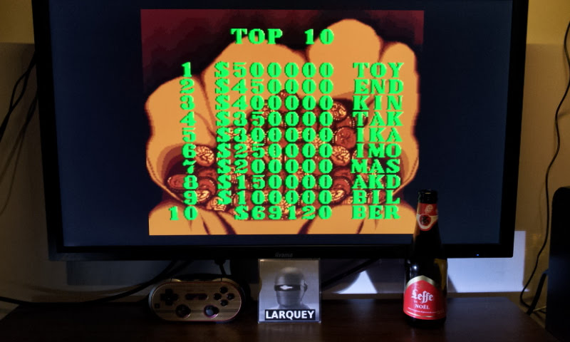 Larquey: Sunset Riders (Sega Genesis / MegaDrive Emulated) 69,120 points on 2017-12-25 14:22:06