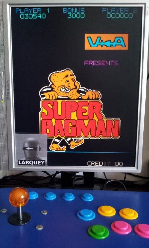Larquey: Super Bagman [sbagman] (Arcade Emulated / M.A.M.E.) 30,540 points on 2017-06-18 08:30:49