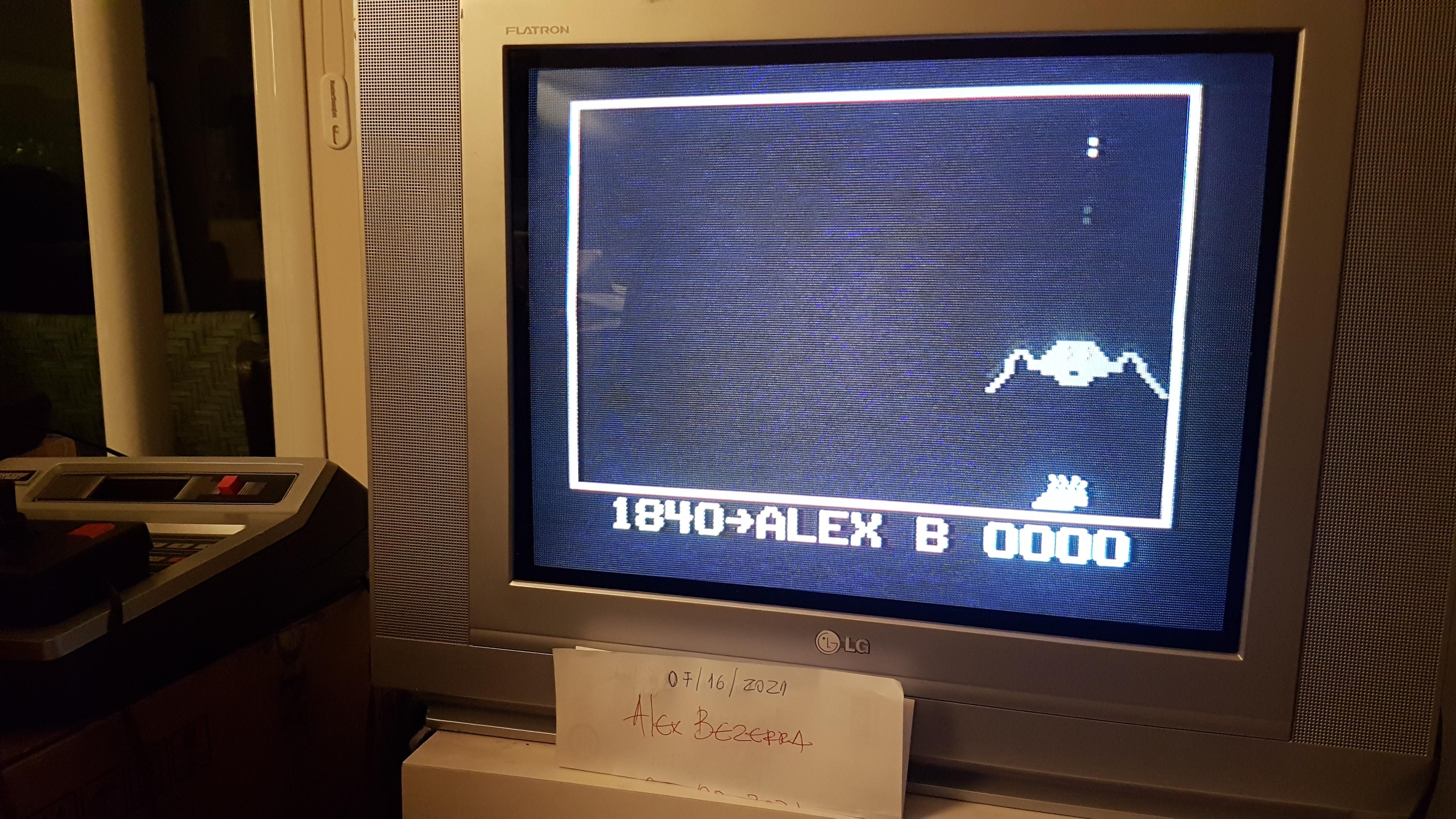 AlexBezerra: Super Bee (Odyssey 2 / Videopac) 1,840 points on 2021-07-18 15:14:54