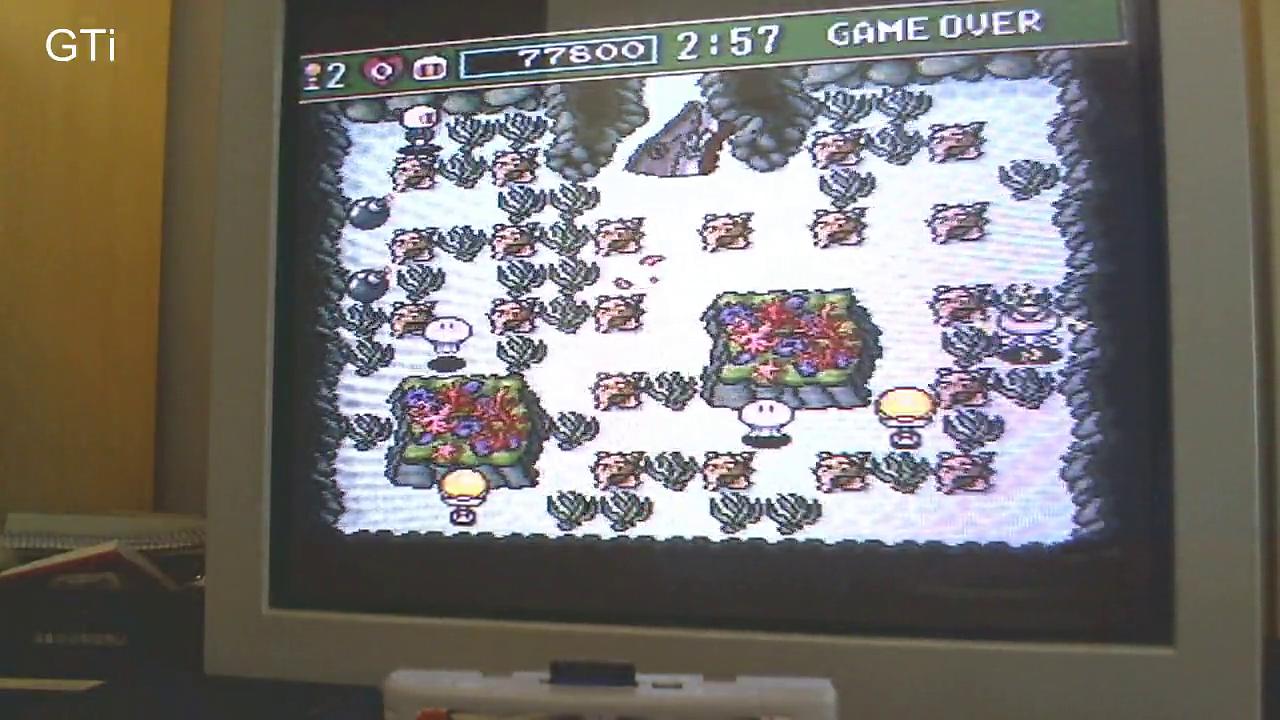 GTibel: Super Bomberman 3 [Normal] (SNES/Super Famicom) 77,800 points on 2016-10-22 04:03:03