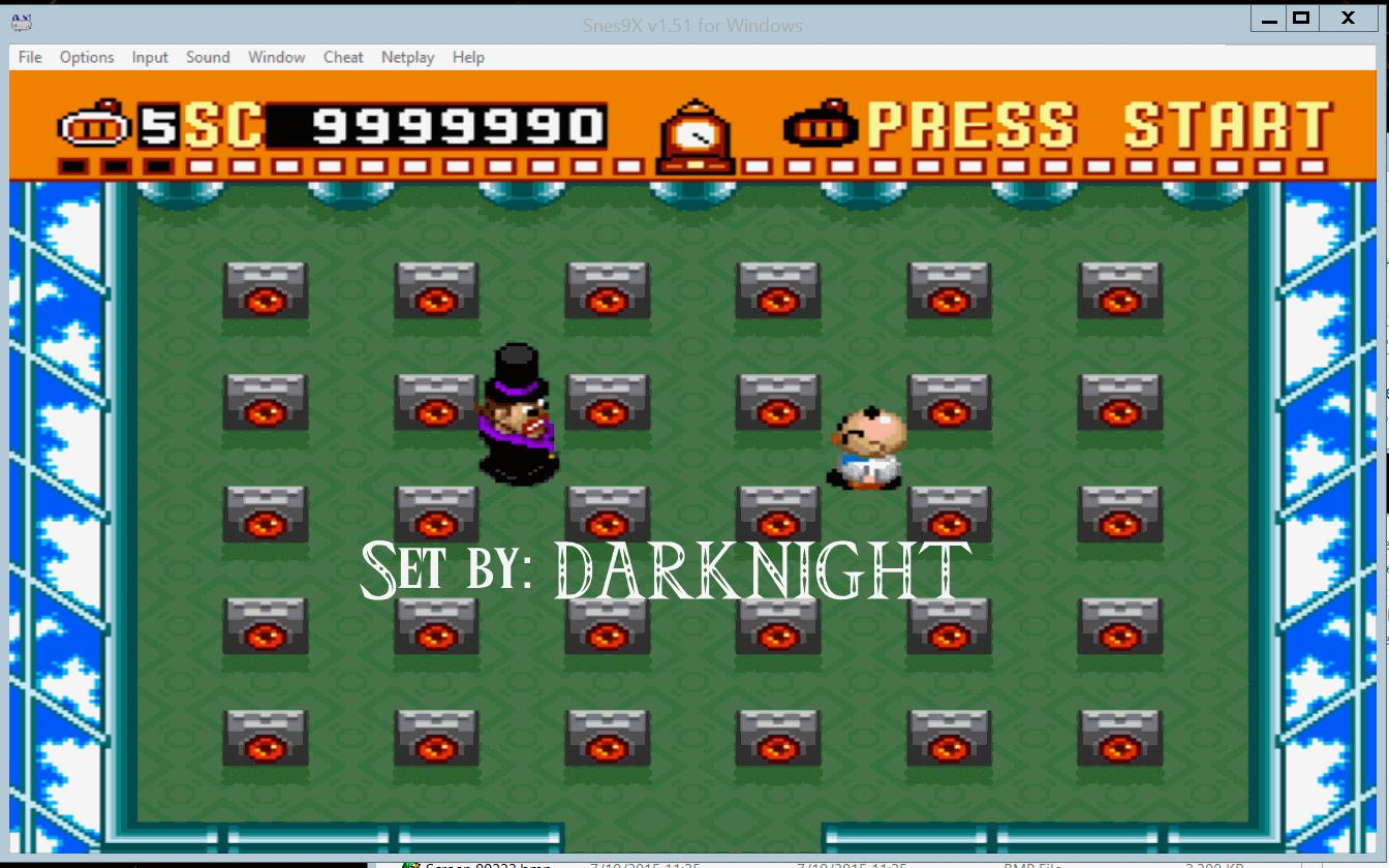 darknight: Super Bomberman (SNES/Super Famicom Emulated) 9,999,990 points on 2015-10-27 05:13:24