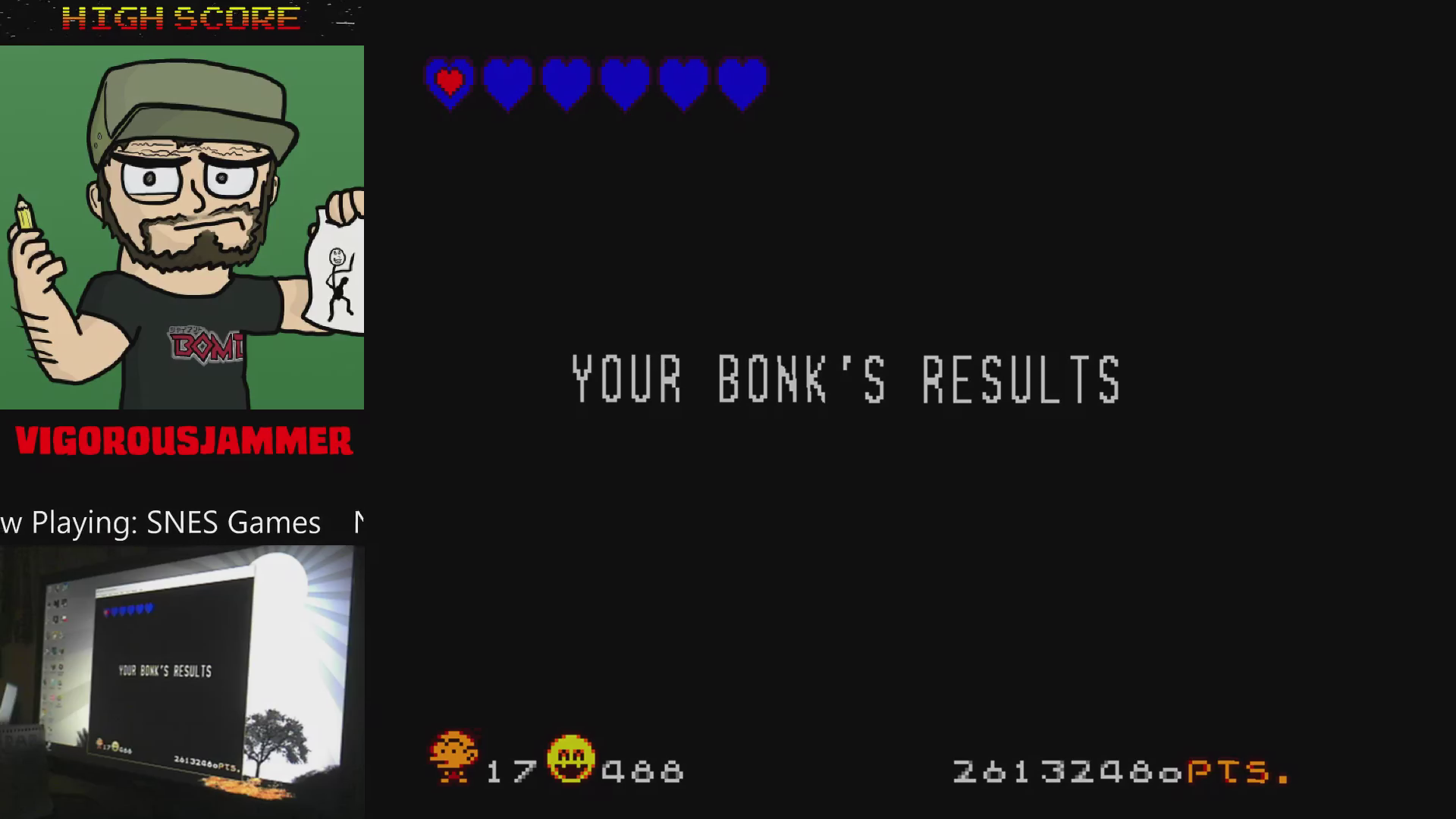 vigorousjammer: Super Bonk / Super B.C. Kid / Chou Genjin (SNES/Super Famicom Emulated) 26,132,480 points on 2015-09-05 23:20:11