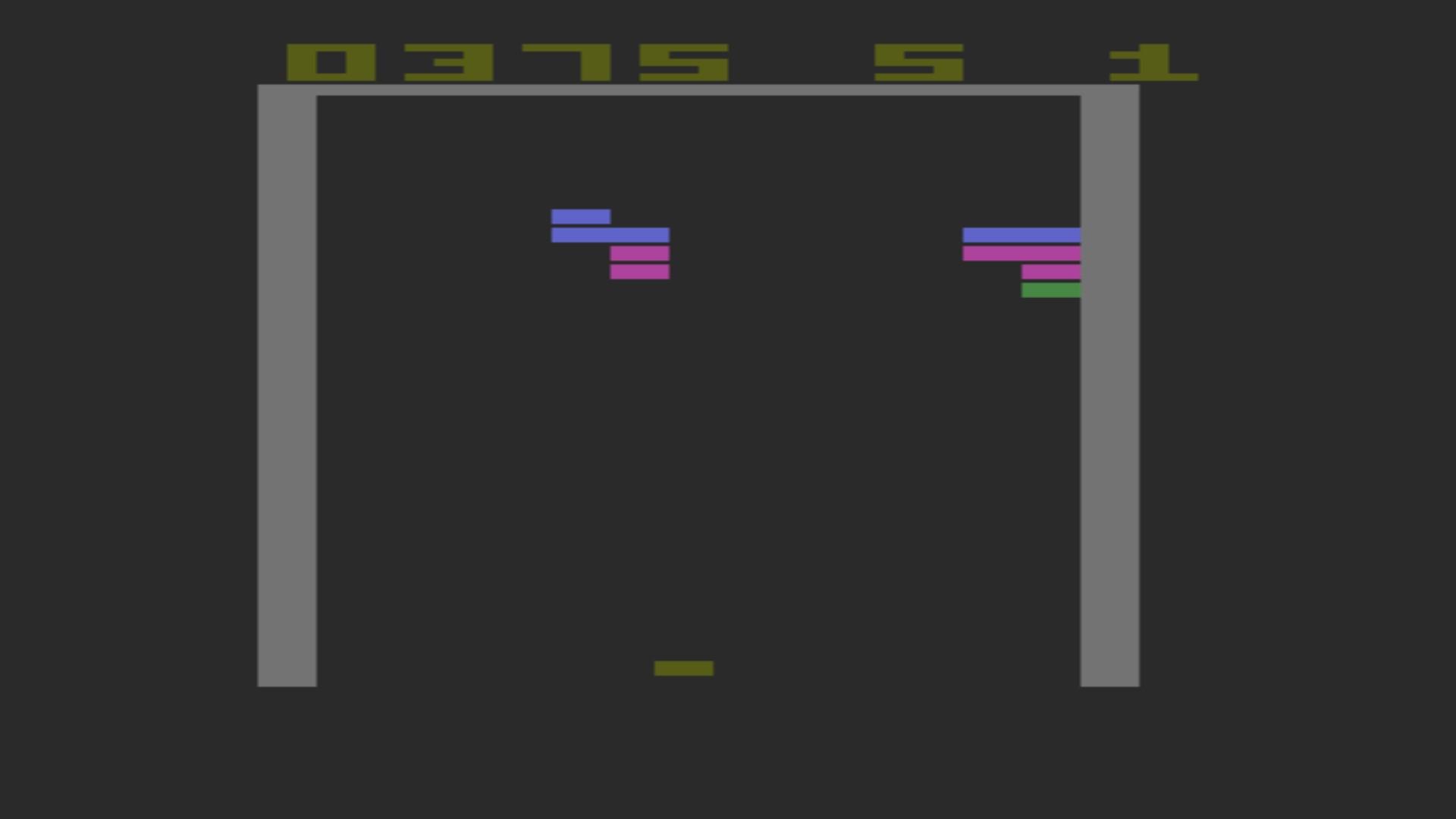 AkinNahtanoj: Super Breakout (Atari 2600 Emulated Novice/B Mode) 375 points on 2020-10-17 09:37:40