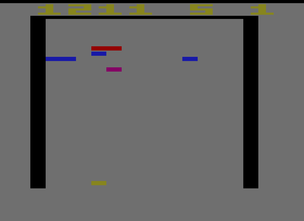 TheTrickster: Super Breakout (Atari 2600 Emulated Novice/B Mode) 1,211 points on 2016-06-14 08:19:31