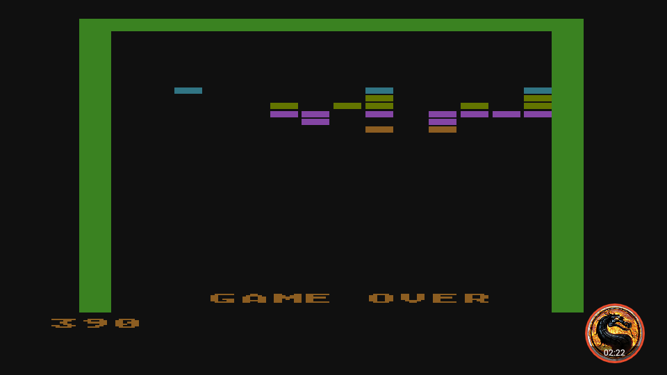 omargeddon: Super Breakout: Cavity (Atari 400/800/XL/XE Emulated) 390 points on 2019-03-20 12:15:17