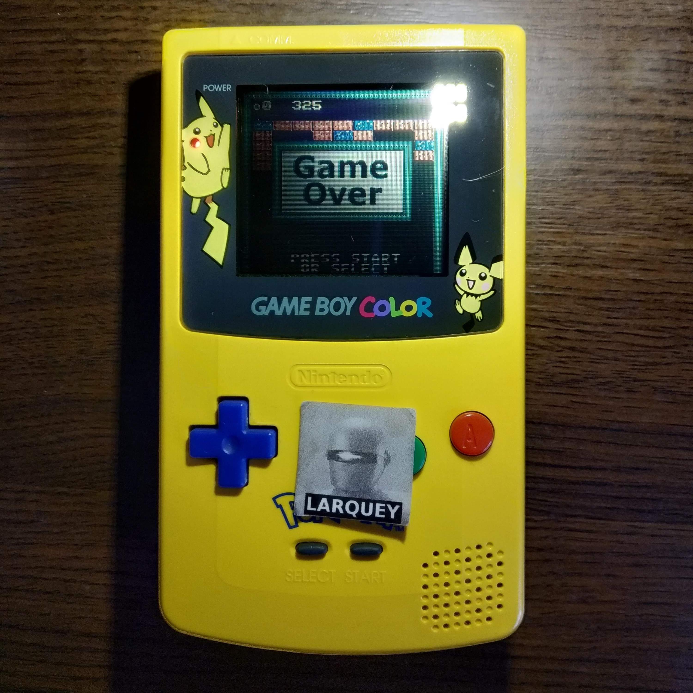Larquey: Super Breakout: Cavity (Game Boy Color) 325 points on 2020-07-14 12:05:56