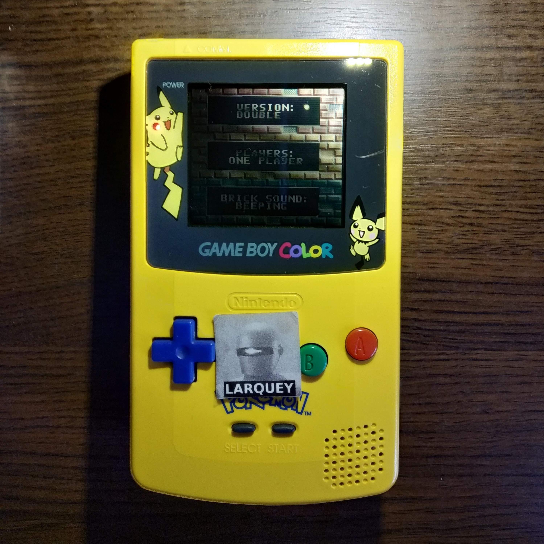 Larquey: Super Breakout: Double (Game Boy Color) 294 points on 2020-07-14 12:08:59