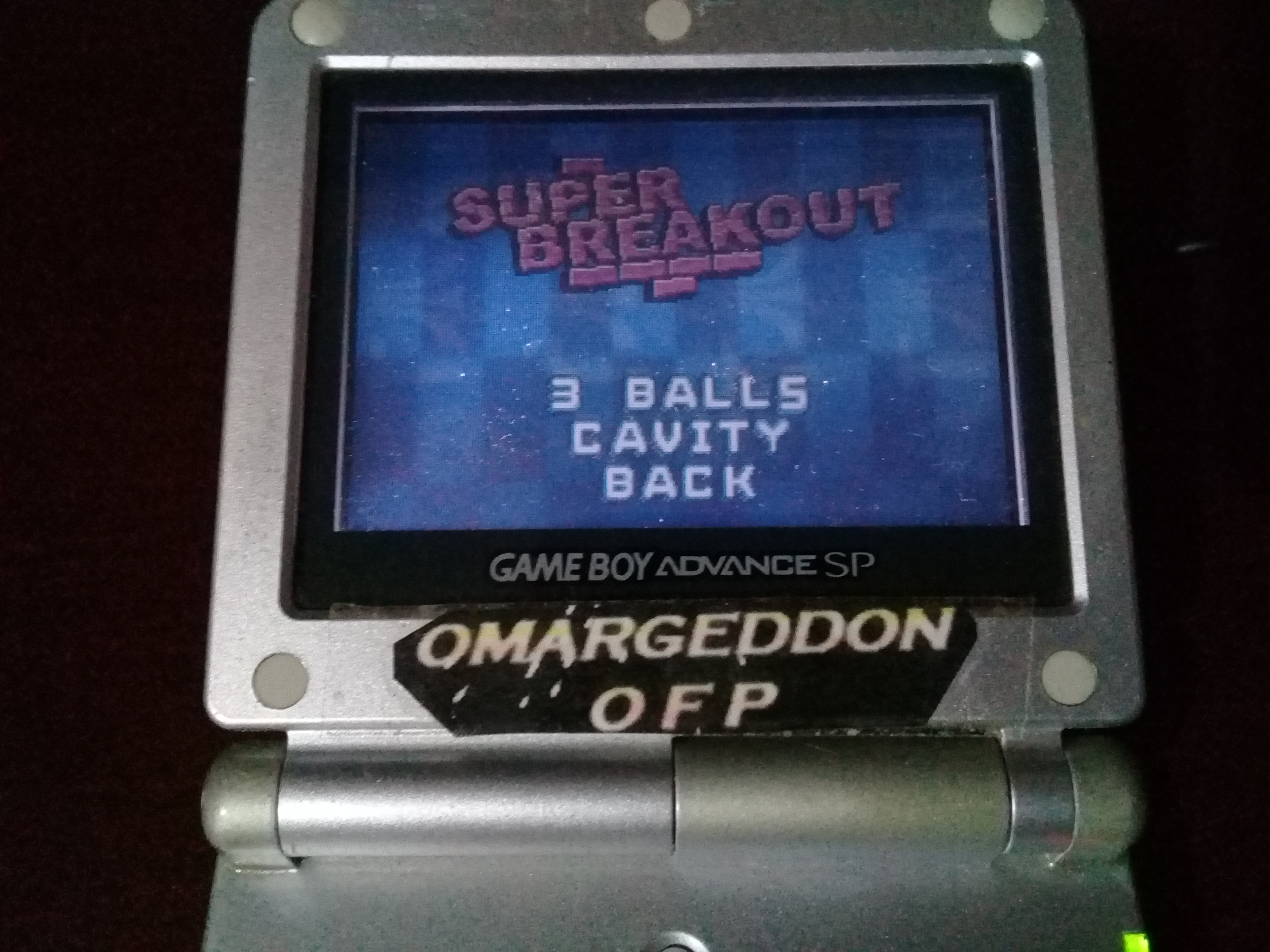 omargeddon: Super Breakout (GBA) 223 points on 2019-08-16 10:15:00