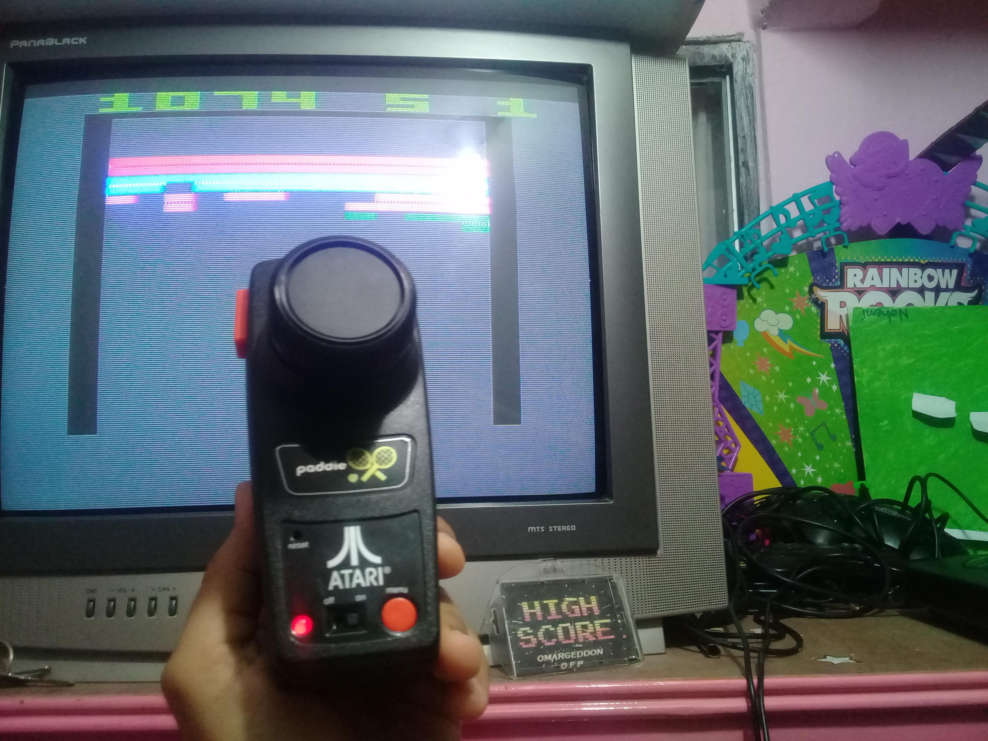 omargeddon: Super Breakout: Game 3 (Jakks Pacific Atari TV Paddle) 1,074 points on 2019-01-13 19:17:27