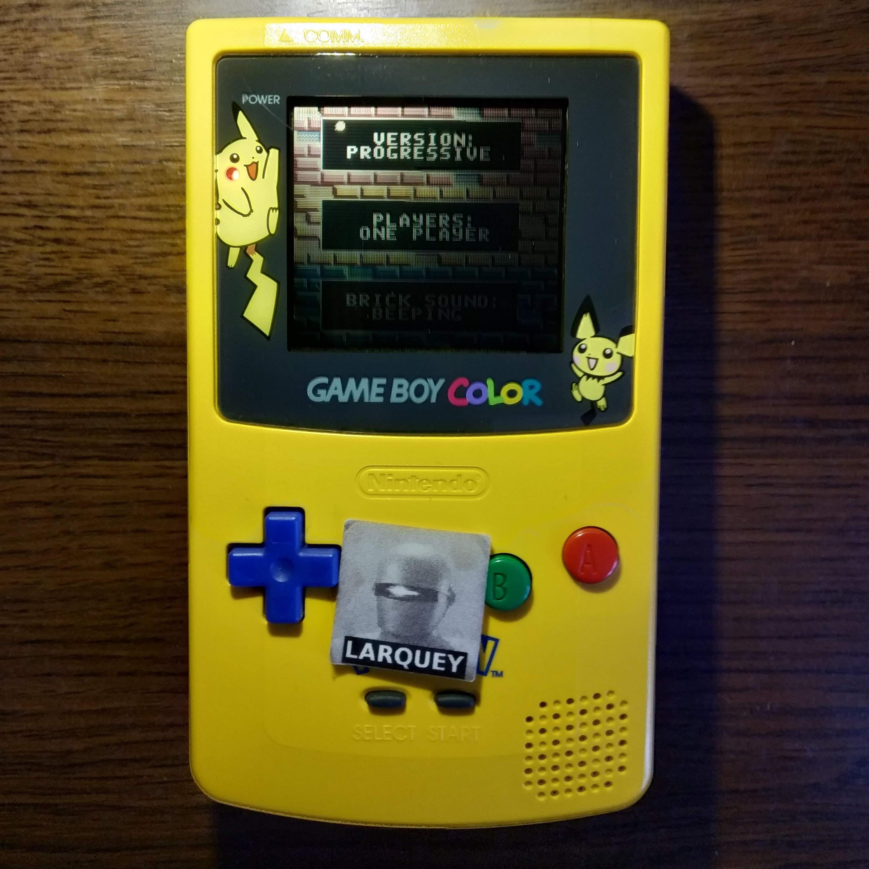 Larquey: Super Breakout: Progressive (Game Boy Color) 114 points on 2020-07-15 09:32:21