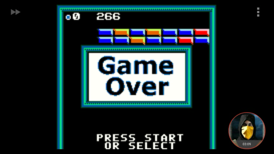 omargeddon: Super Breakout: Regular (Game Boy Color Emulated) 266 points on 2018-03-20 13:29:15