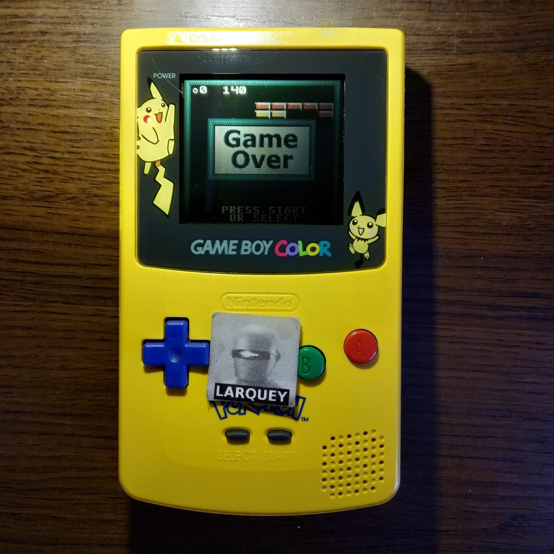 Larquey: Super Breakout: Regular (Game Boy Color) 140 points on 2020-07-15 09:30:30