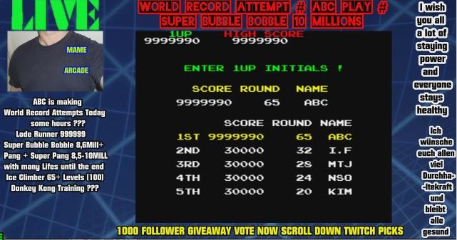 Super Bubble Bobble [sboblboblc] 9,999,990 points