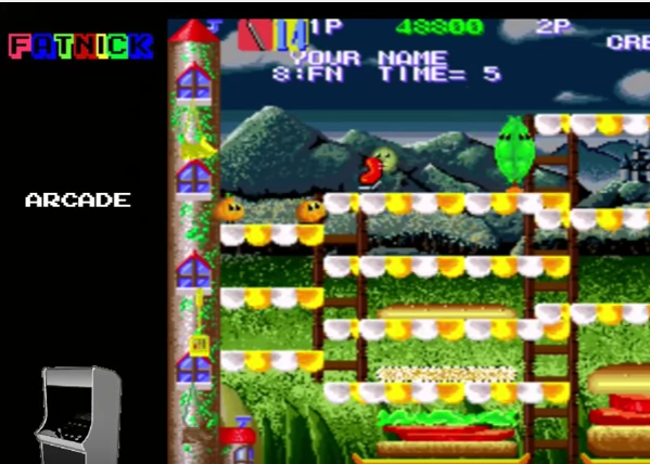 mechafatnick: Super Burger Time [supbtime] (Arcade Emulated / M.A.M.E.) 48,800 points on 2017-01-26 23:38:16