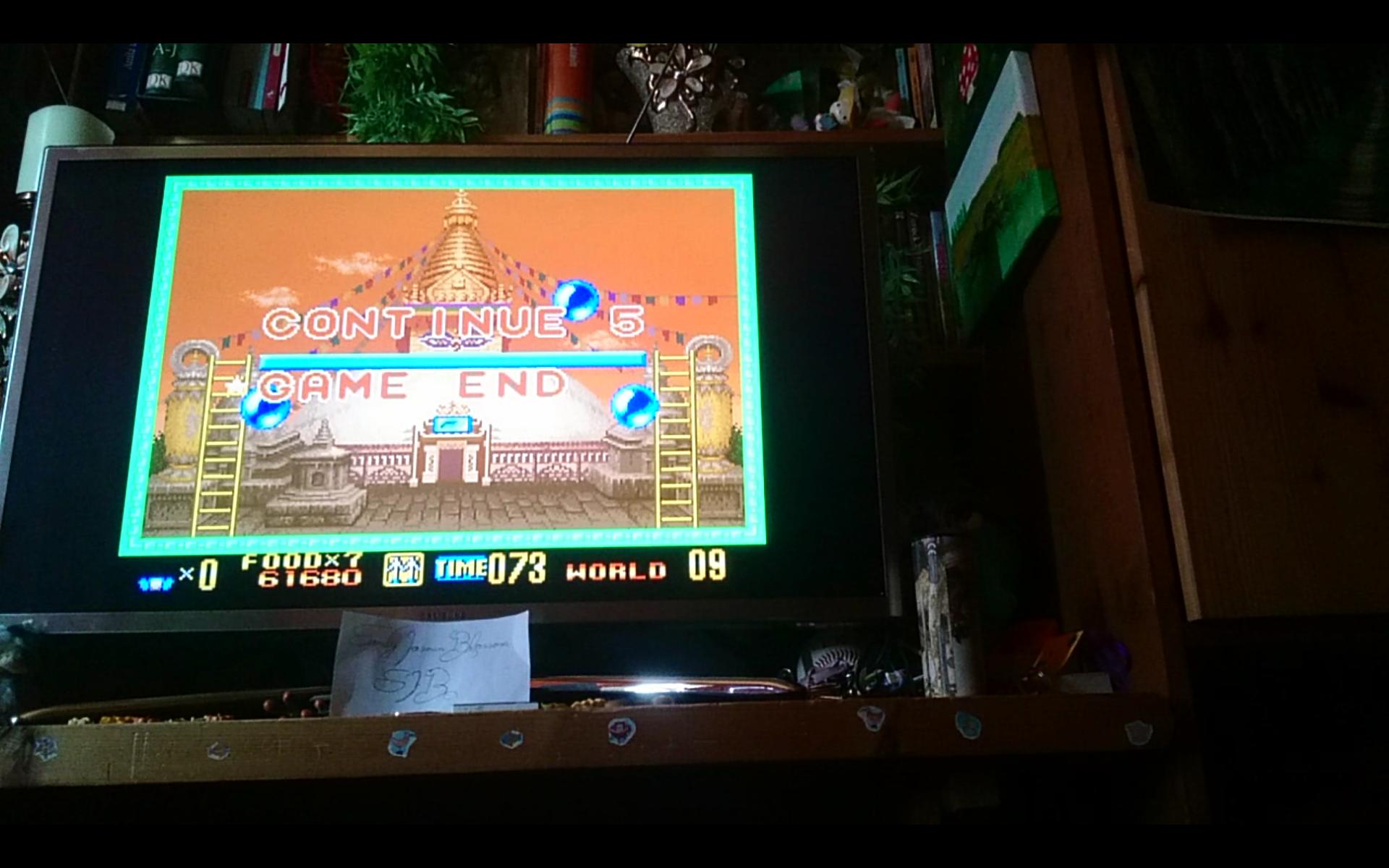 SandyJasminBlossom: Super Buster Bros: Tour Mode [Easy] (SNES/Super Famicom Emulated) 61,680 points on 2018-08-02 16:06:10