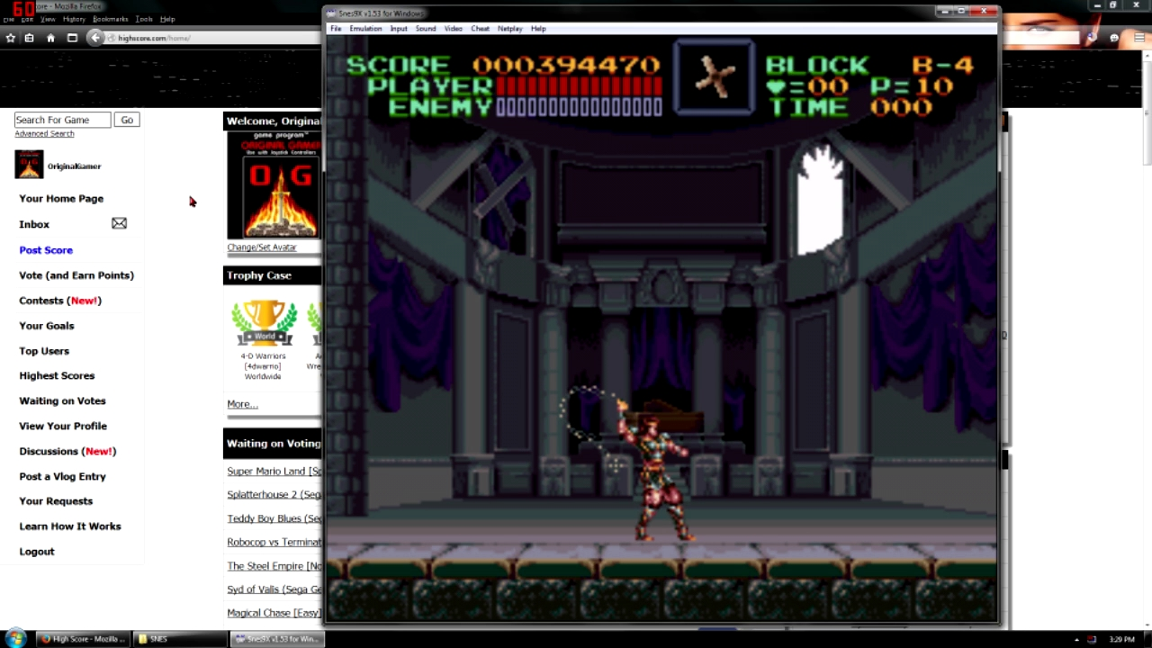 Super Castlevania IV 394,470 points