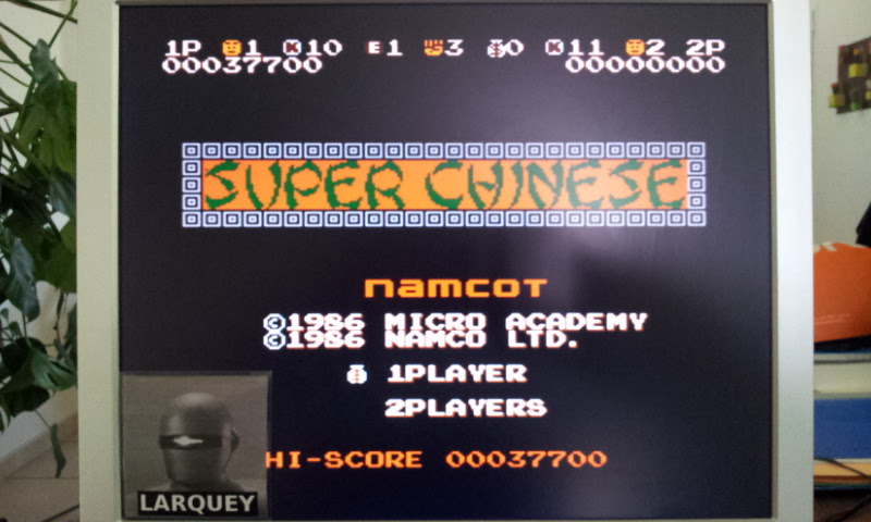 Larquey: Super Chinese (NES/Famicom Emulated) 37,700 points on 2017-04-25 04:38:07