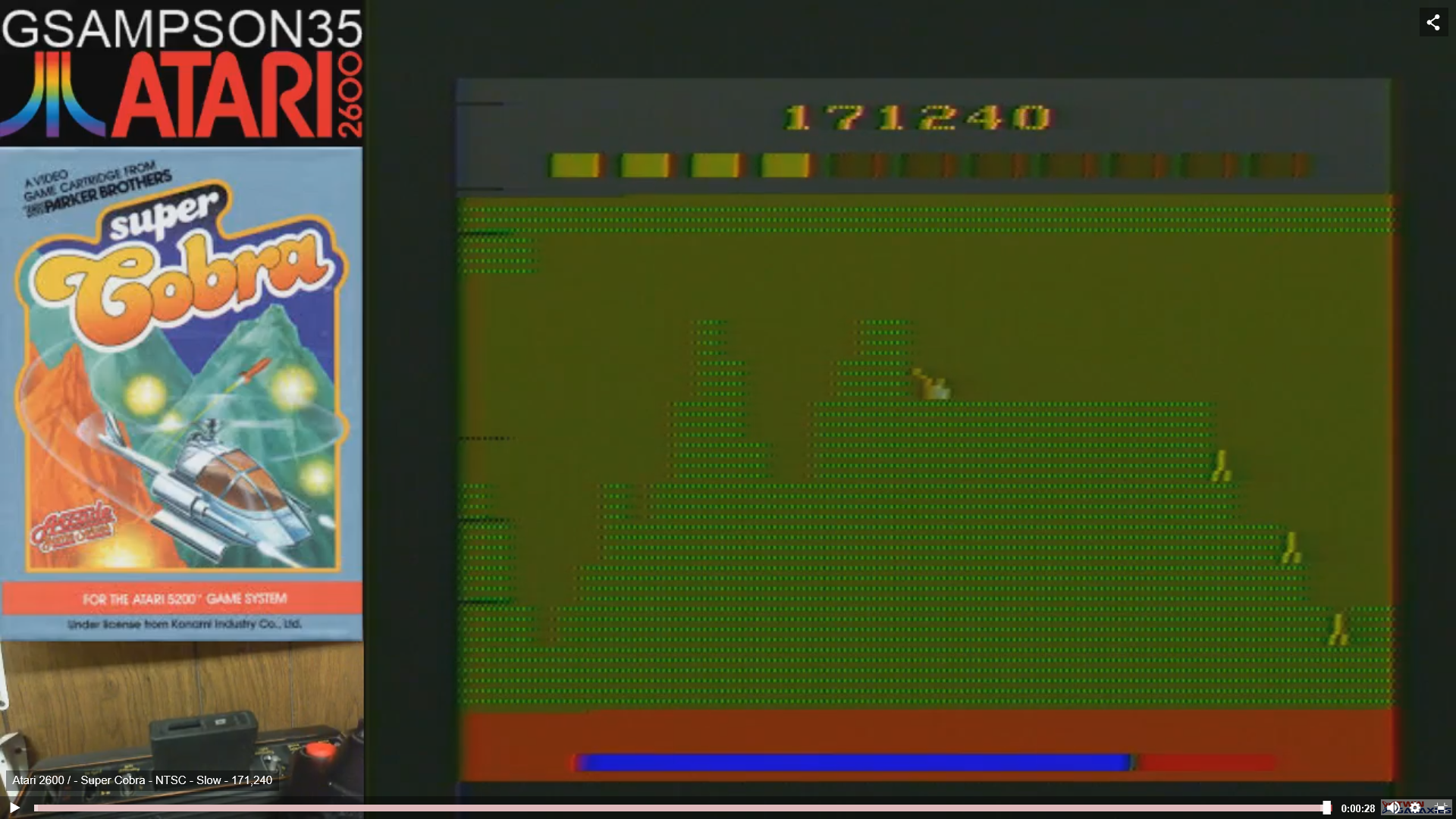 gsampson35: Super Cobra (Atari 2600 Novice/B) 171,240 points on 2019-02-10 04:31:48