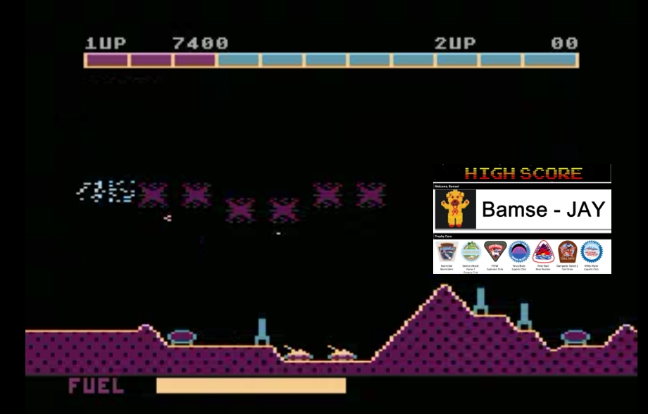 Bamse: Super Cobra (Atari 5200 Emulated) 7,400 points on 2019-12-12 13:33:13
