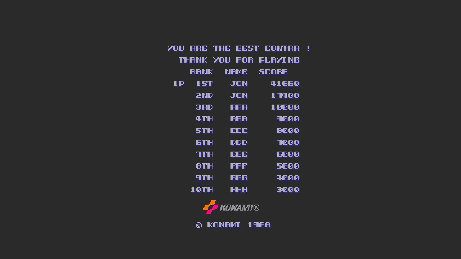 Super Contra [scontra] 41,860 points