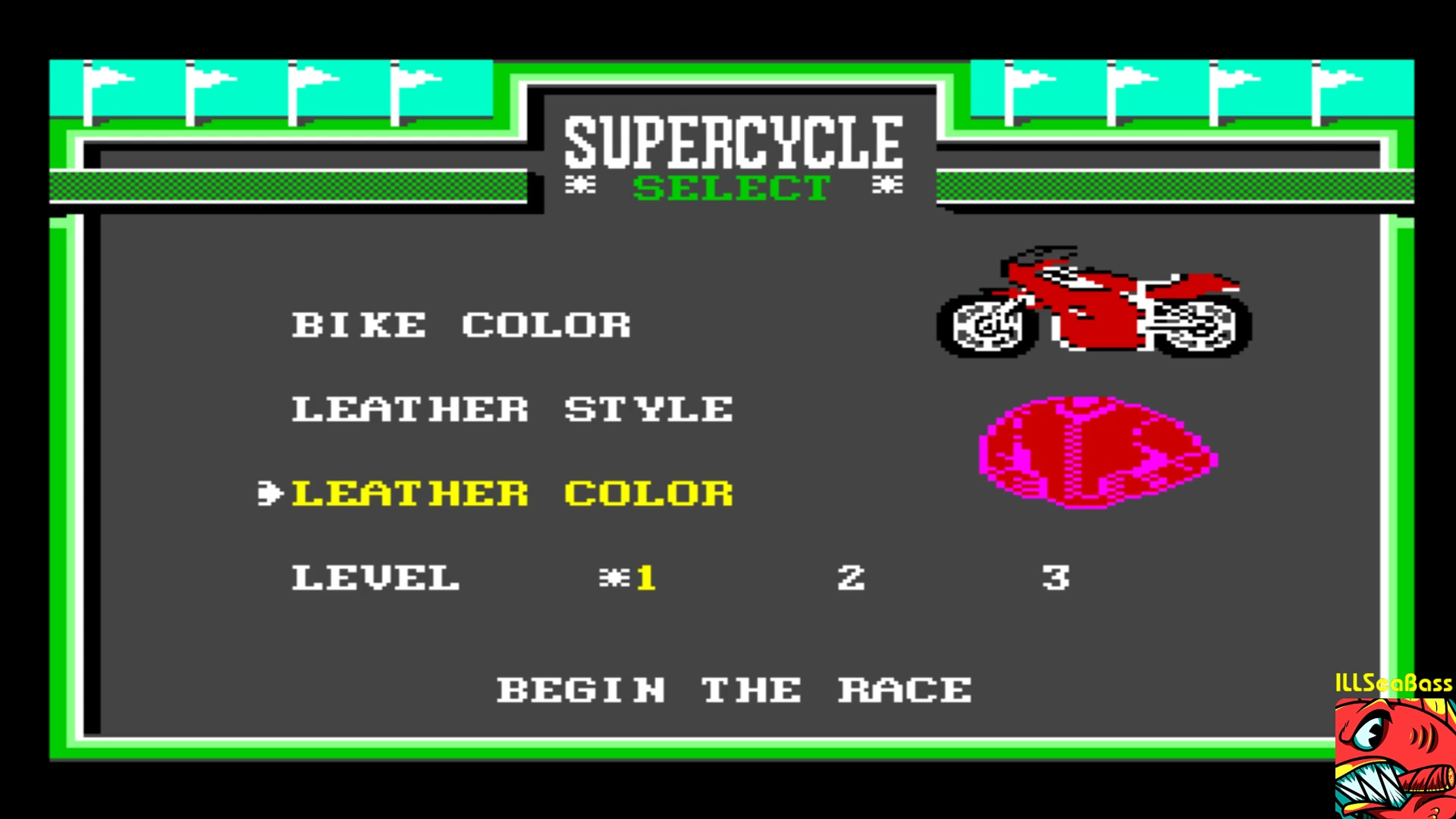 ILLSeaBass: Super Cycle [Level 1 Start] (Commodore 64 Emulated) 128,020 points on 2018-01-16 19:53:04
